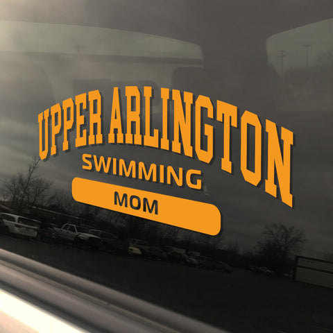 Upper Arlington Swimming Mom UAHS Golden Bear Sticker