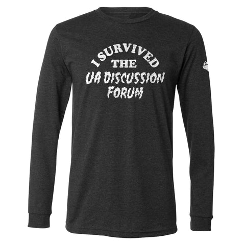 I Survived Long Sleeve Tri-Blend Black
