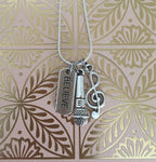 Music Believe Necklace (Silver) // Performing Artist Jewelry