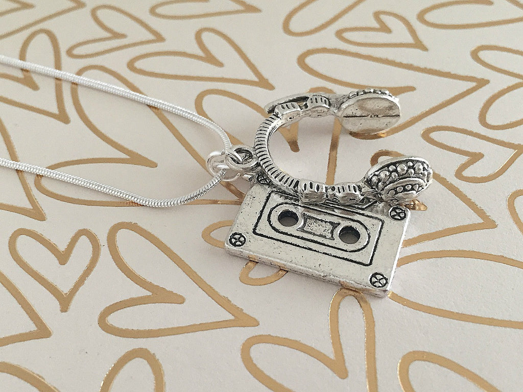 80s Rocker Necklace (Silver) // Funky Music Jewelry