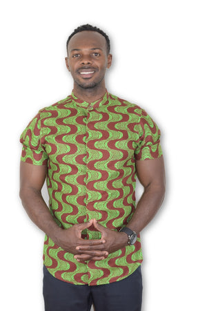 African Print (Short Sleeves) Shirt