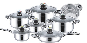 13pc Nonstick Stainless Steel Pot Set