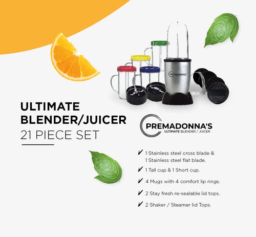 *21 PIECE ULTIMATE BLENDER / JUICER