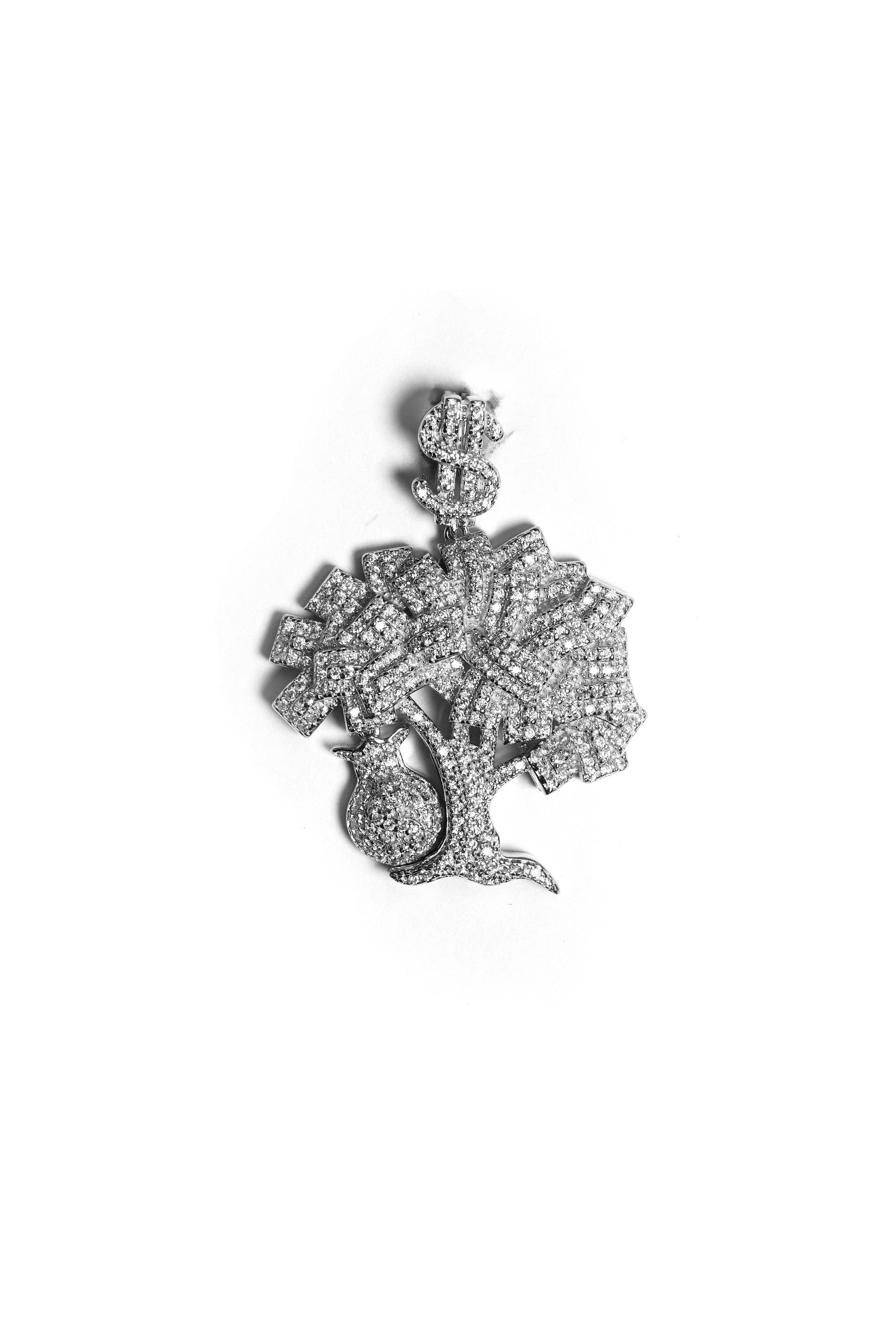 MONEY TREE SILVER PENDANT