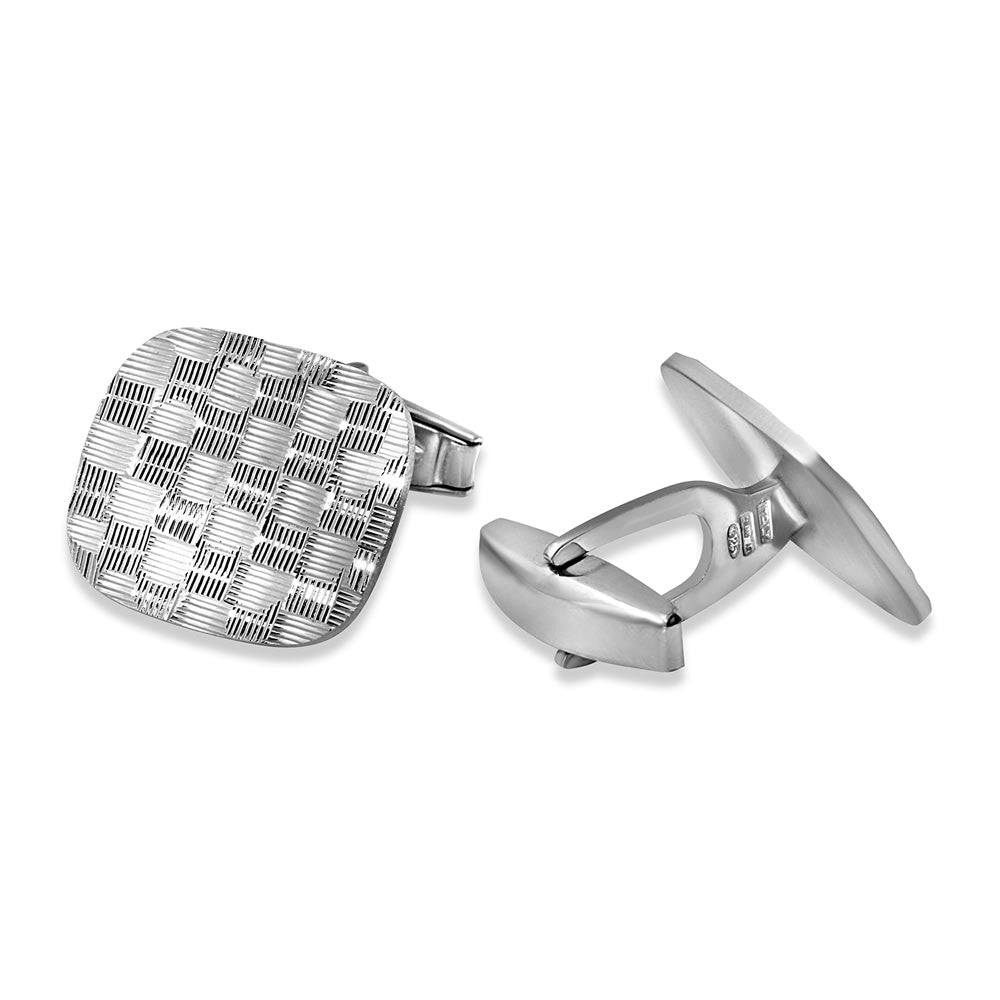 RECTANGLE DC WEAVE CUFFLINK