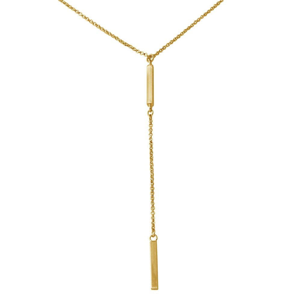 GOLD DROP BAR NECKLACE