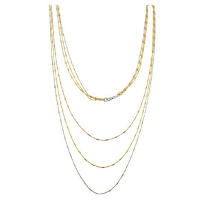 TRICOLOR CHAIN NECKLACE