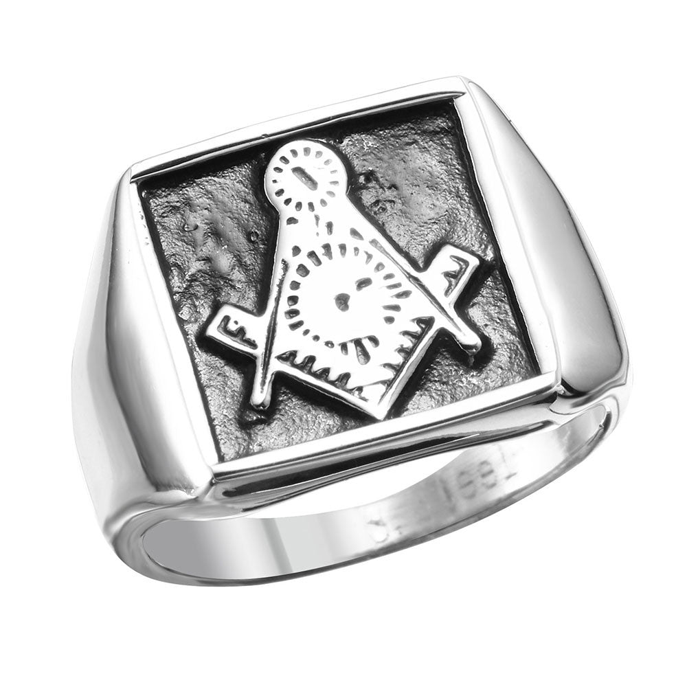 FREEMASON SQUARE PINKY RING