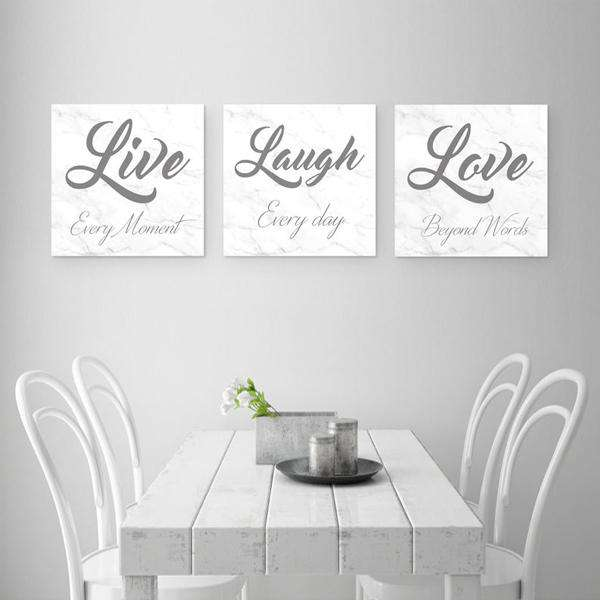 Live Laugh Love Canvas Art Set 02