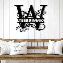 Load image into Gallery viewer, Last Name Metal Sign-Black