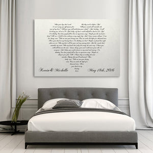 Heart Shaped-White Wooden Canvas ArtWork 01