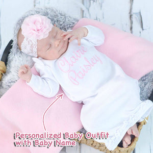 Personalized Baby Girl Gown II-08