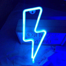Load image into Gallery viewer, Neon Sign - Lightning Bolt 02
