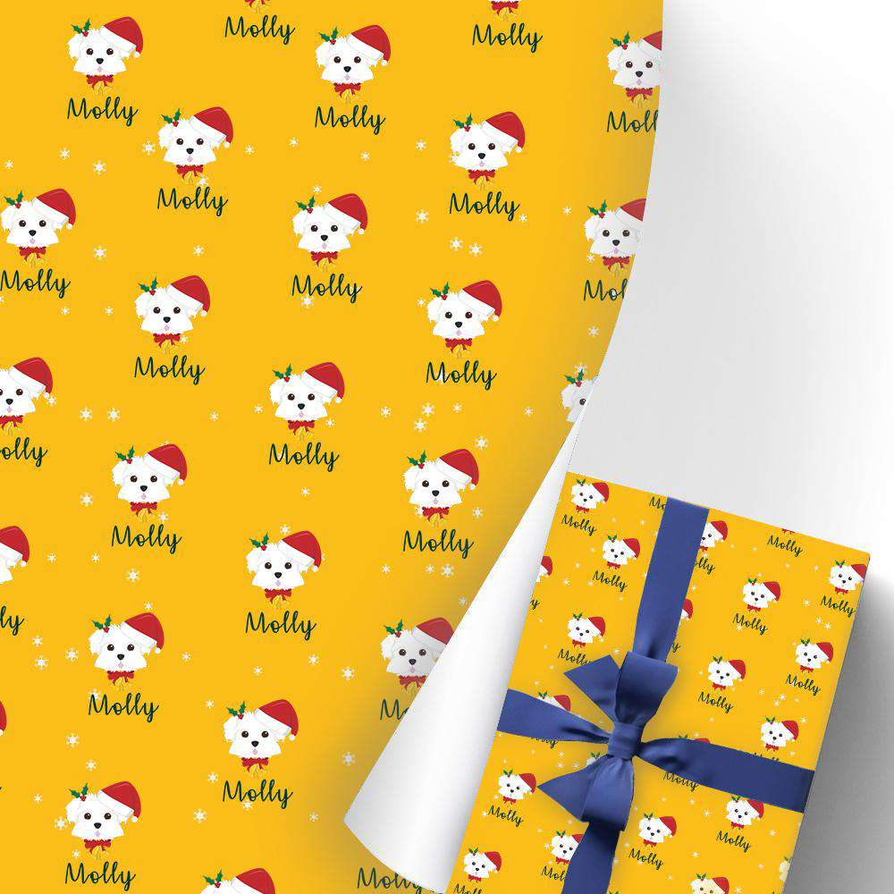 Custom Name Gift Wrapping Paper 3 Rolls Doggy I10