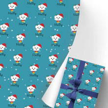 Load image into Gallery viewer, Custom Name Gift Wrapping Paper 3 Rolls Doggy I10