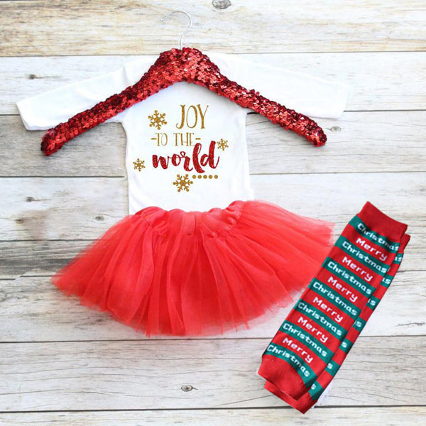Christmas Baby Outfit 11-Joy to the world