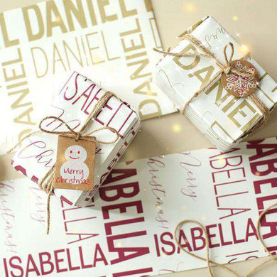 Personalized Name Wrapping Paper I01