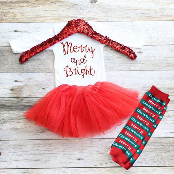 Christmas Baby Outfit 12-Merry&Bright