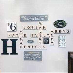 Personalized Scrabble tile wall art