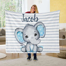Load image into Gallery viewer, Personalized Name Fleece Blanket 11-Elephant