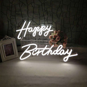 Basic Neon Sign-Oh Baby! Let's Party! Treat Yourself! Happy Birthday! Better Together! Hello Gorgeous