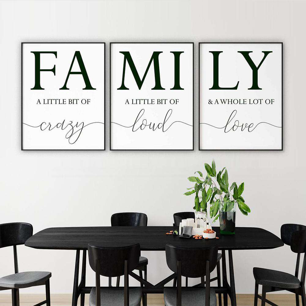 FAMILY Canvas Art Set I 05-3 Pieces