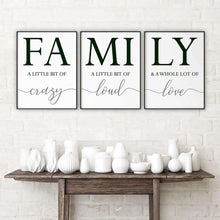 Load image into Gallery viewer, FAMILY Canvas Art Set I 05-3 Pieces