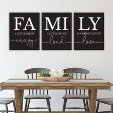 Load image into Gallery viewer, FAMILY Canvas Art Set I 06-3 Pieces