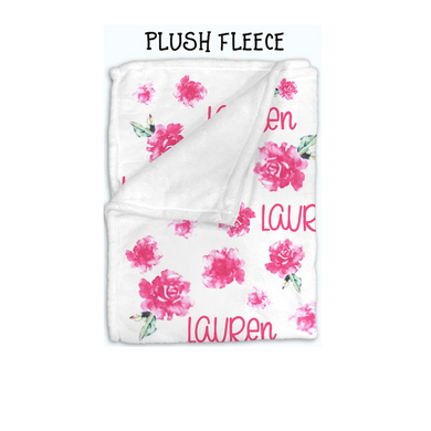 Baby Swaddle Fleece Blanket-Pink Flower
