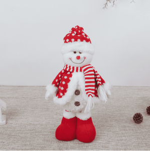 Assorted Poly-Cotton Plush Standing Funny Snowman 03