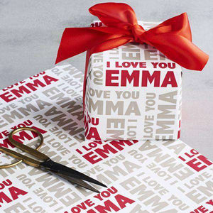 Personalized Name Wrapping Paper I02