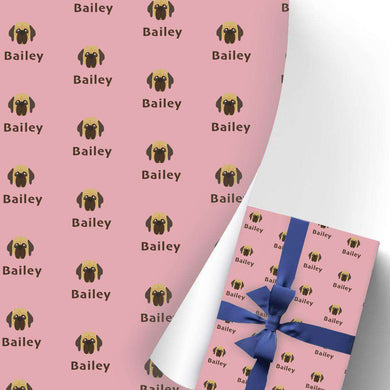 Custom Name Gift Wrapping Paper 3 Rolls Doggy I12
