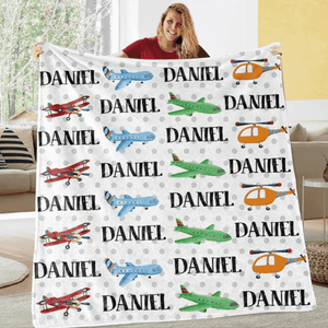 Custom Name Fleece Blanket 02