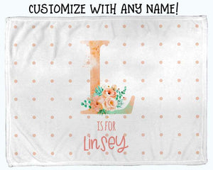 Baby Swaddle Fleece Blanket-Big Letter