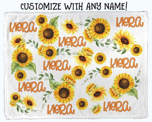 Baby Swaddle Fleece Blanket-Sunflower