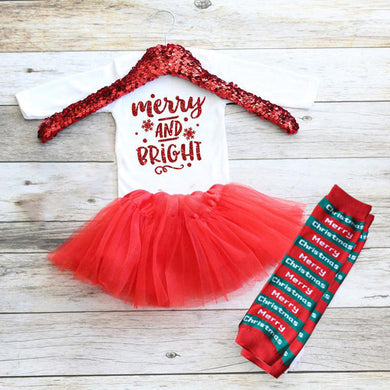 Christmas Baby Outfit 03-Merry&Bright