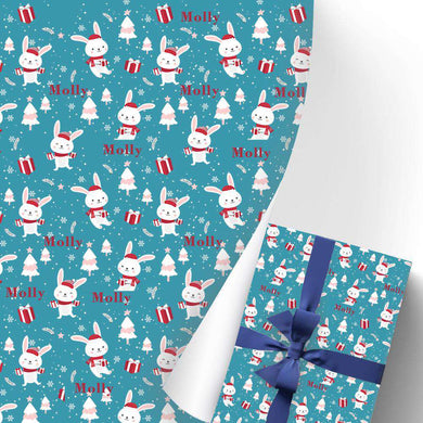 Custom Name Gift Wrapping Paper 3 Rolls Rabbit I13