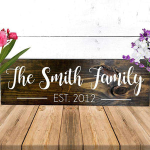 Custom Wood Mom Family Sign 05