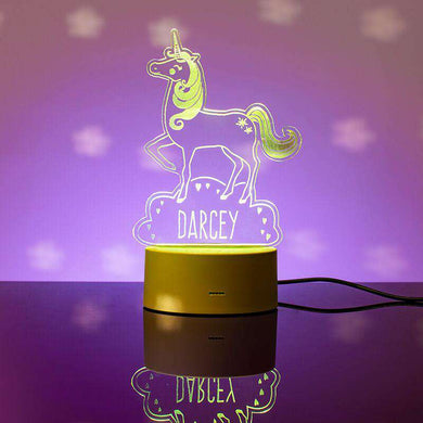 Personalised Unicorn LED Colour Changing Night Light 01