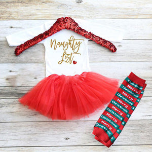 Christmas Baby Outfit 05-Naughty List