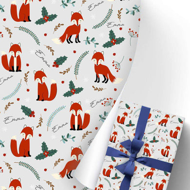 Gift Wrapping Paper 3 Rolls Fox I15