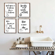 Load image into Gallery viewer, Funny Bathroom Art Canvas 09-4 Pieces