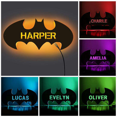 Personalized Wooden Bat Night Lamp With Name 02