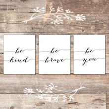 Load image into Gallery viewer, Be Kind Be Brave Be You Art Canvas 01-3 Pieces