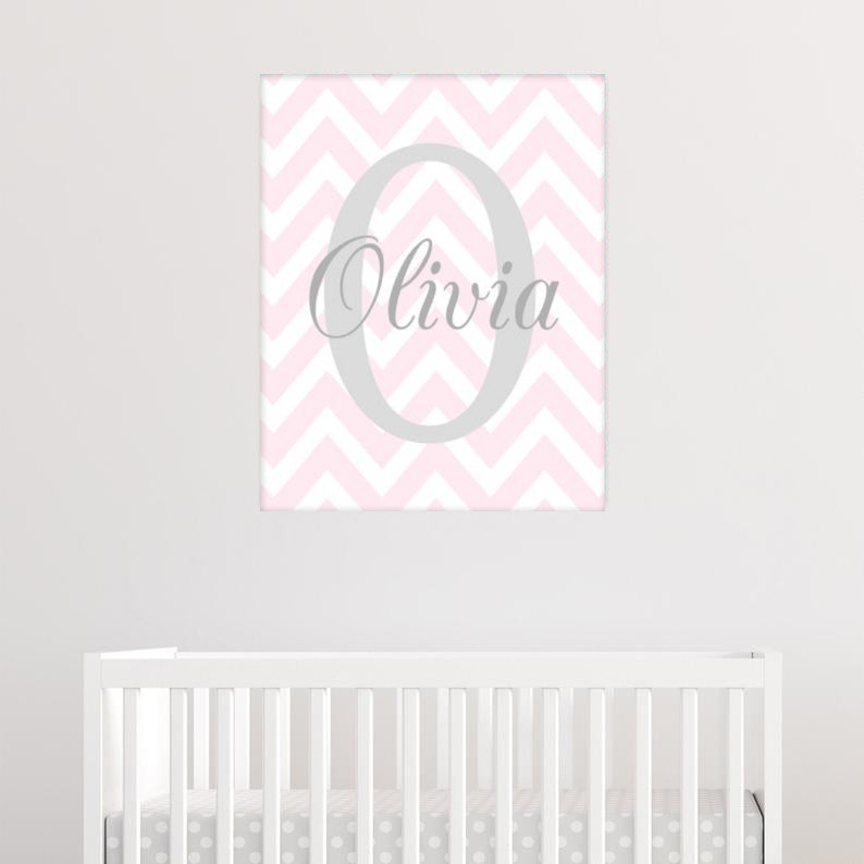 Monogram Nursery Canvas Art 04