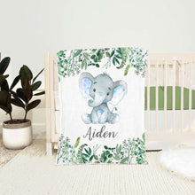 Load image into Gallery viewer, Personalized Name Fleece Blanket 04-Elephant