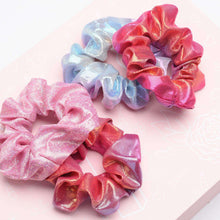Load image into Gallery viewer, Scrunchies 55pcs - 11 Vintage Velvet & 11 Silk & 11Cotton &11 Flower Chiffon & 4 Rainbow & 7 Shiny Metallic Elastic Hair Bands, Scrunchy Ties Ropes for Woman