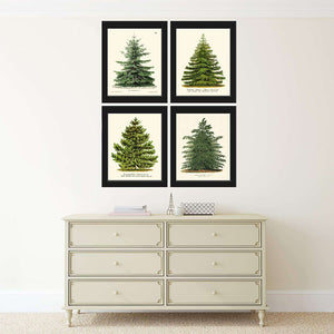 Christmas Trees Art Canvas 03-4 Pieces