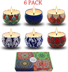 Soy Wax 6-Pack Candles