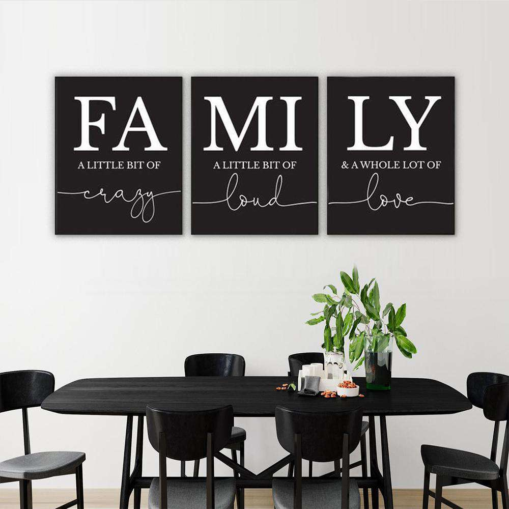 FAMILY Canvas Art Set I 06-3 Pieces